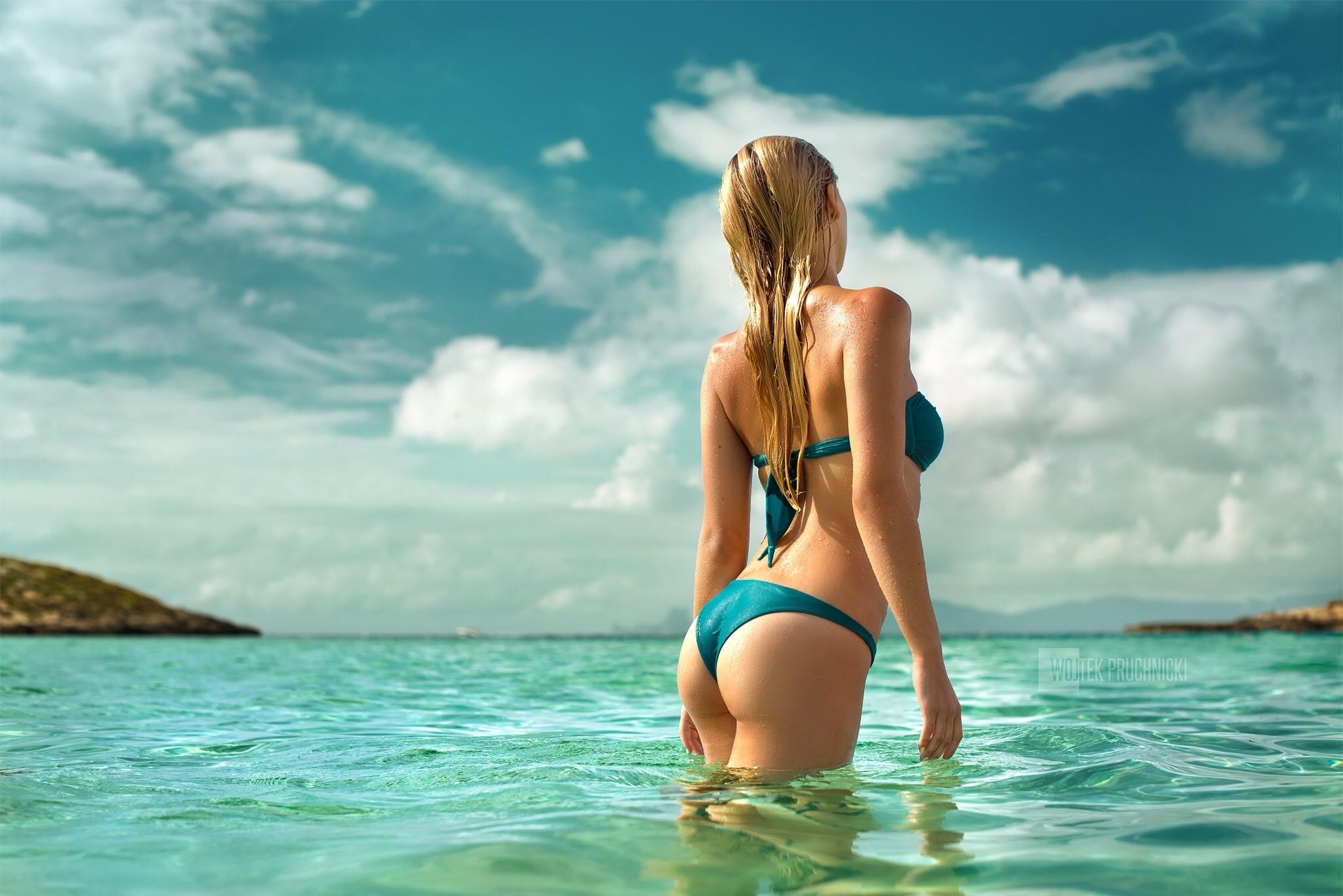 Обои на рабочий стол красивые девушки блондинки и море