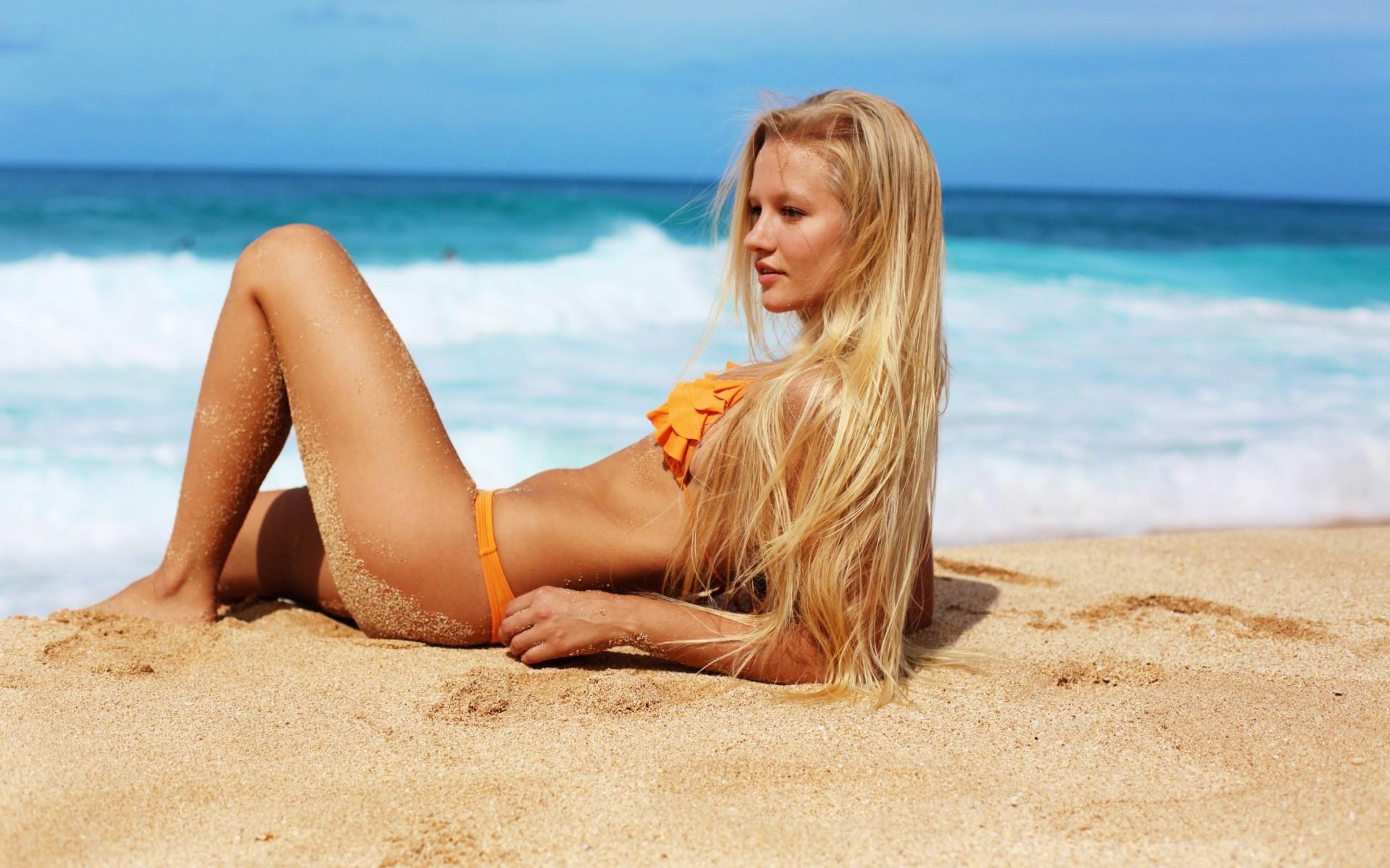 Blonde bikini russian