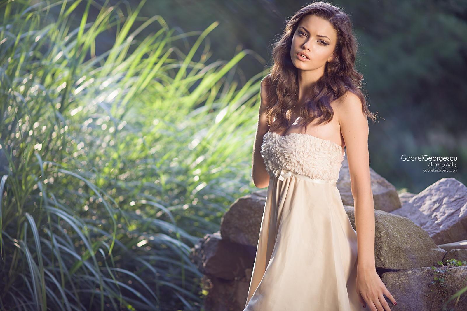 barbara palvin women model brunette blue eyes long hair