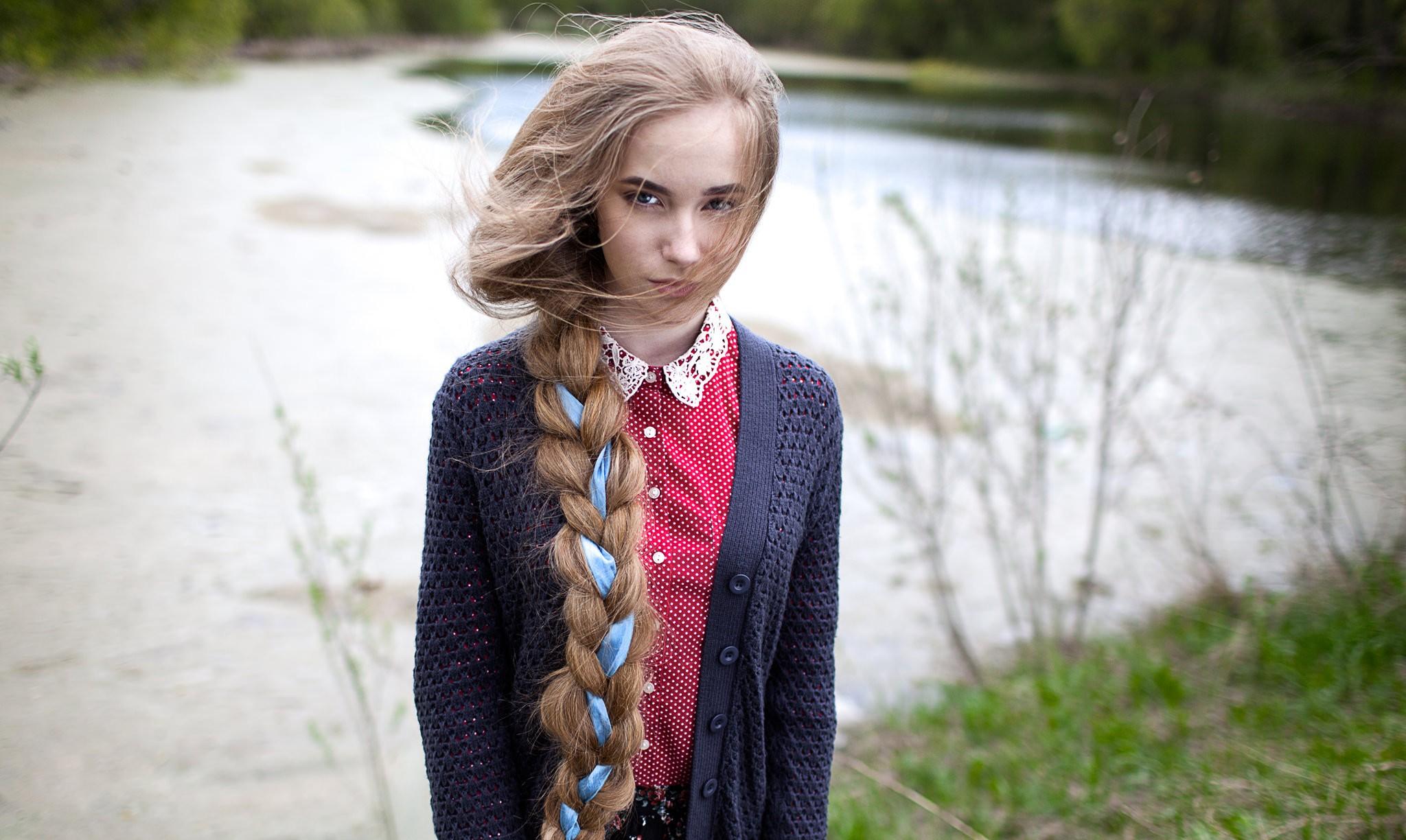 Красивые девушки с косами фото
