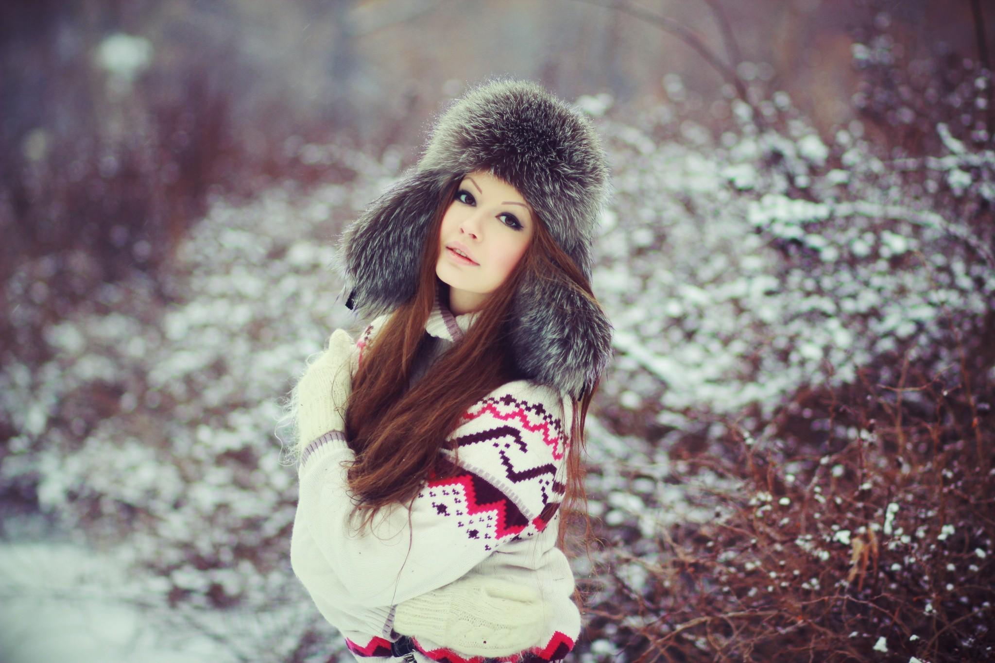 Зимний картинки с девушками