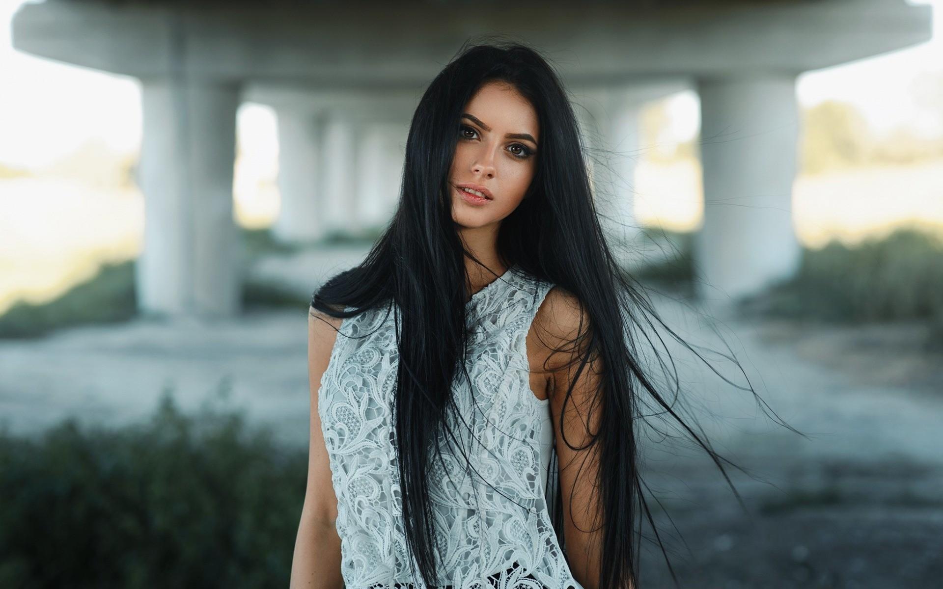 Sfondi : donne all'aperto, modello, capelli lisci, capelli ...