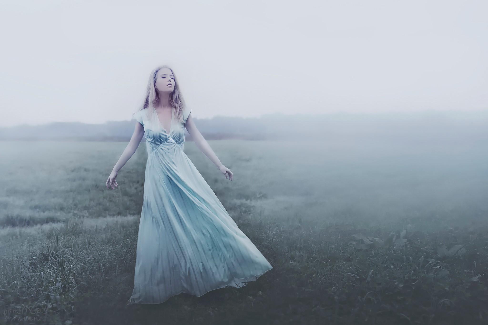 Fondos de pantalla : mujer, fotografía, vestir, azul, vestido de ...