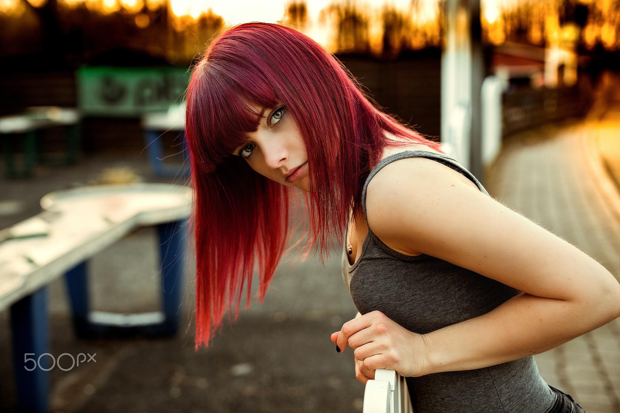 Wallpaper : women, redhead, cosplay, 10px, model, portrait, long