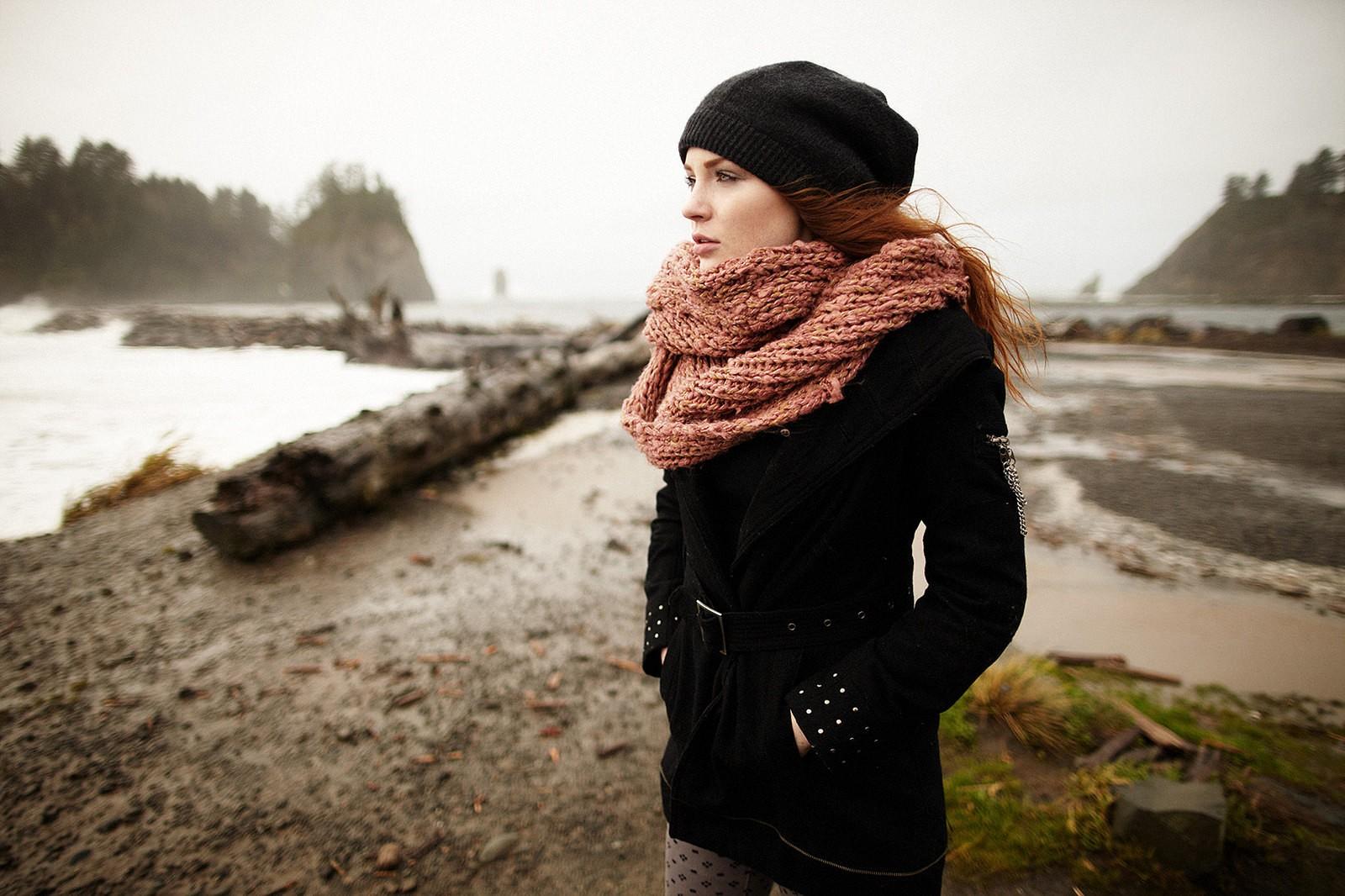 Идеи для фото с шарфом