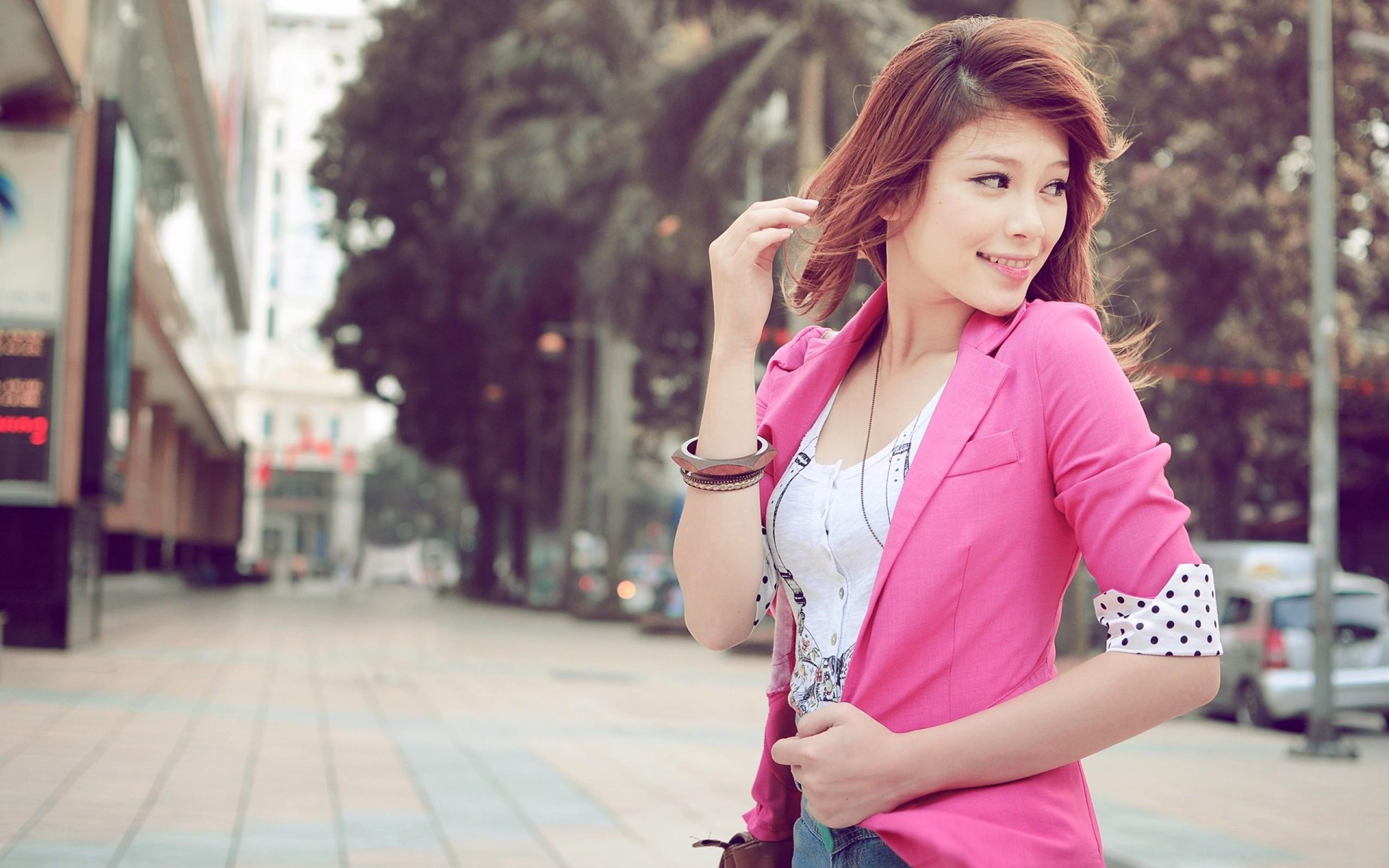 Fondos de pantalla : mujer, pelirrojo, modelo, rojo, asiático ...