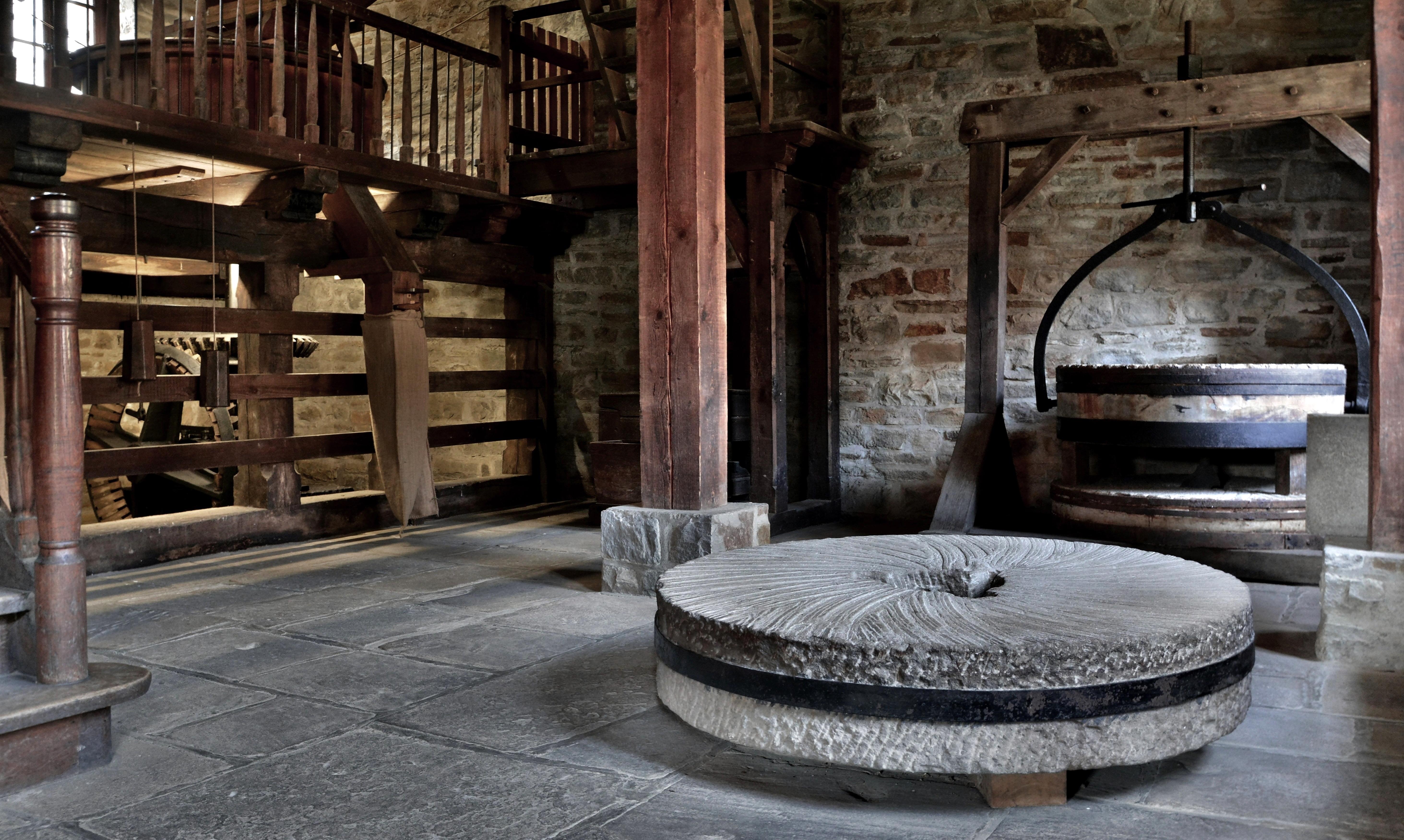Wood Mill Interior Design Nostalgic Estate Handcraft Furniture M Hle Man  Made Object Holz Millstones Freilichtmuseum