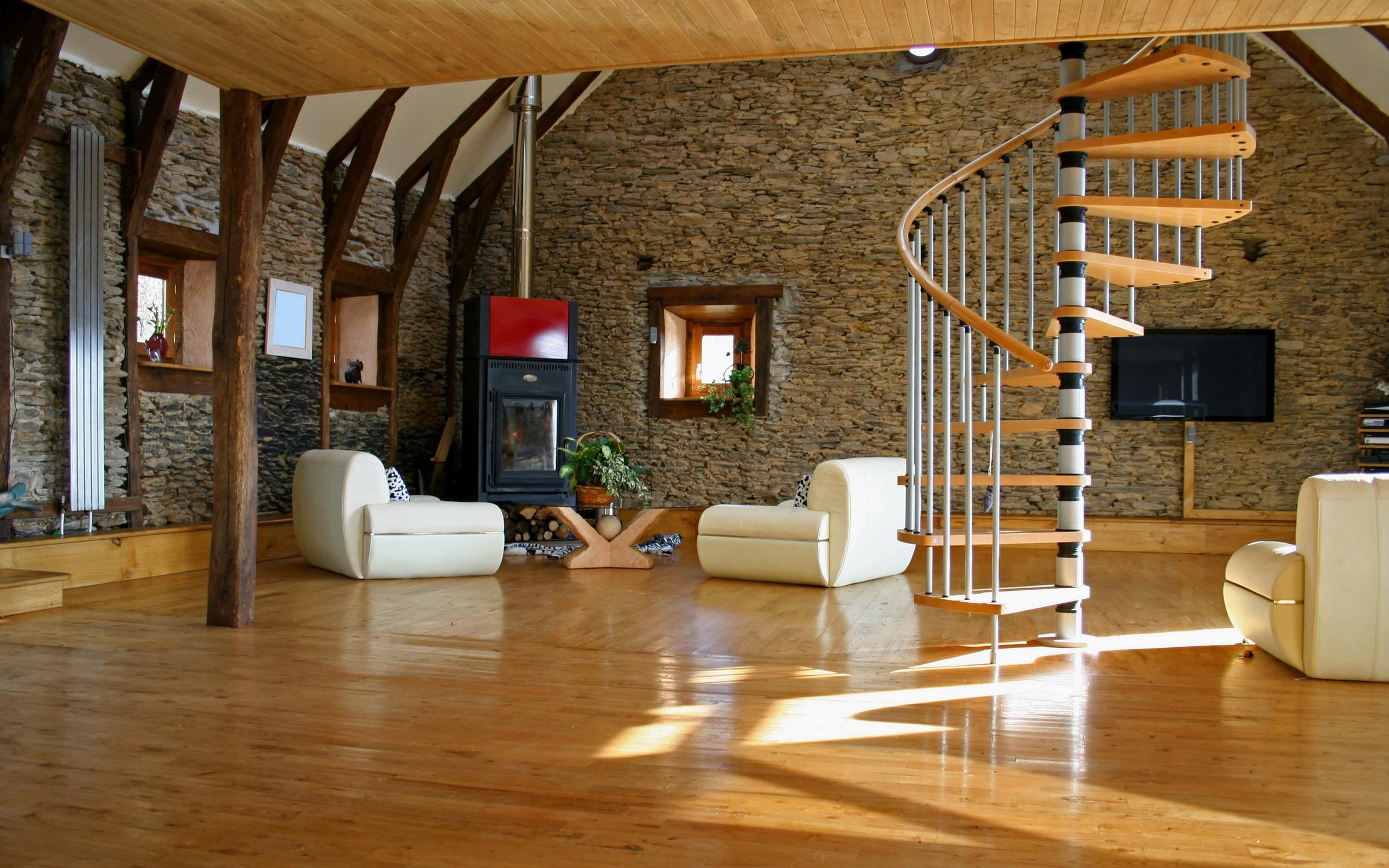 House Stairs Interior Design Cottage, Estate Living Laminate Flooring