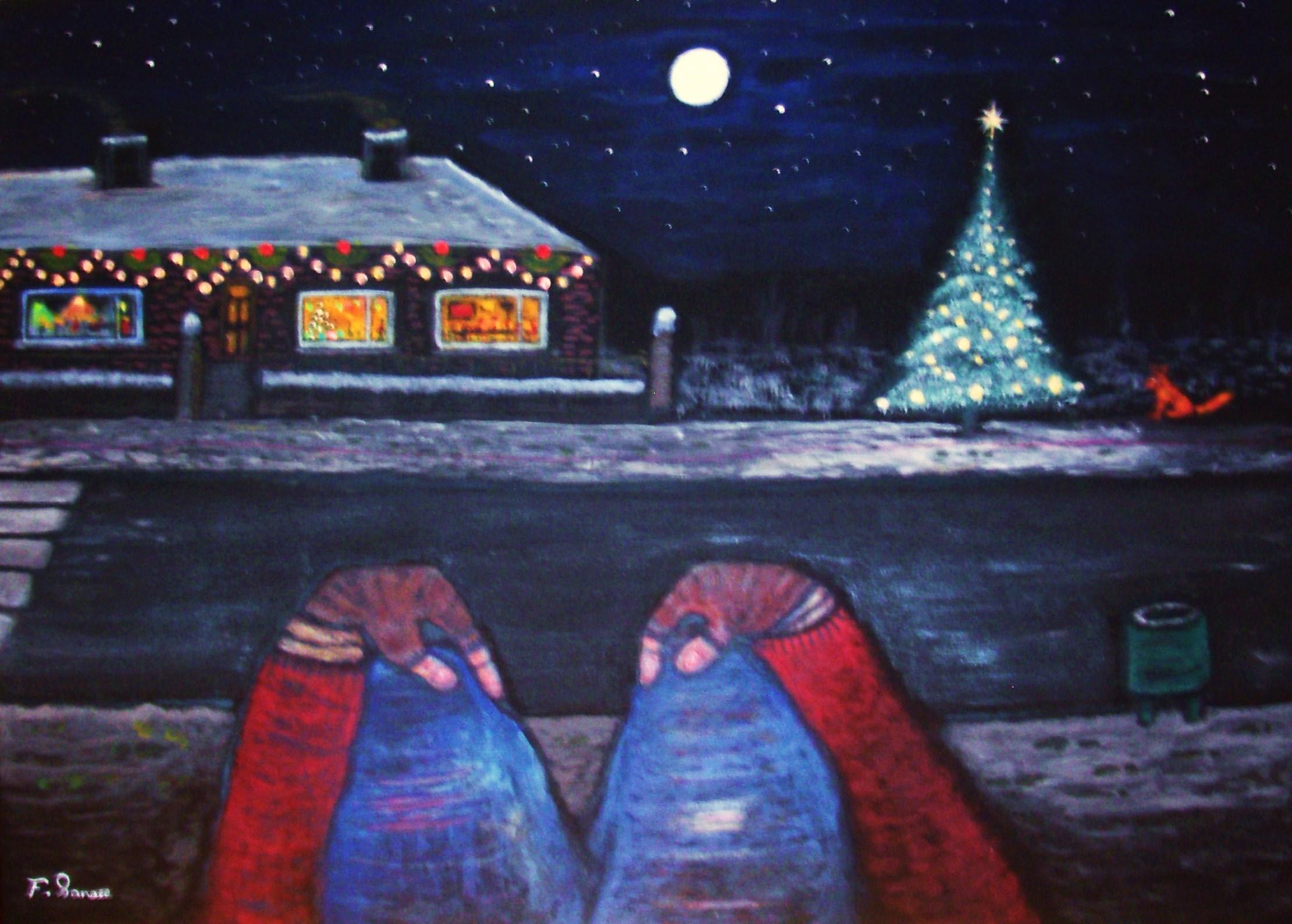 England Christmas Snow.Wallpaper World Life Christmas Street Xmas Blue