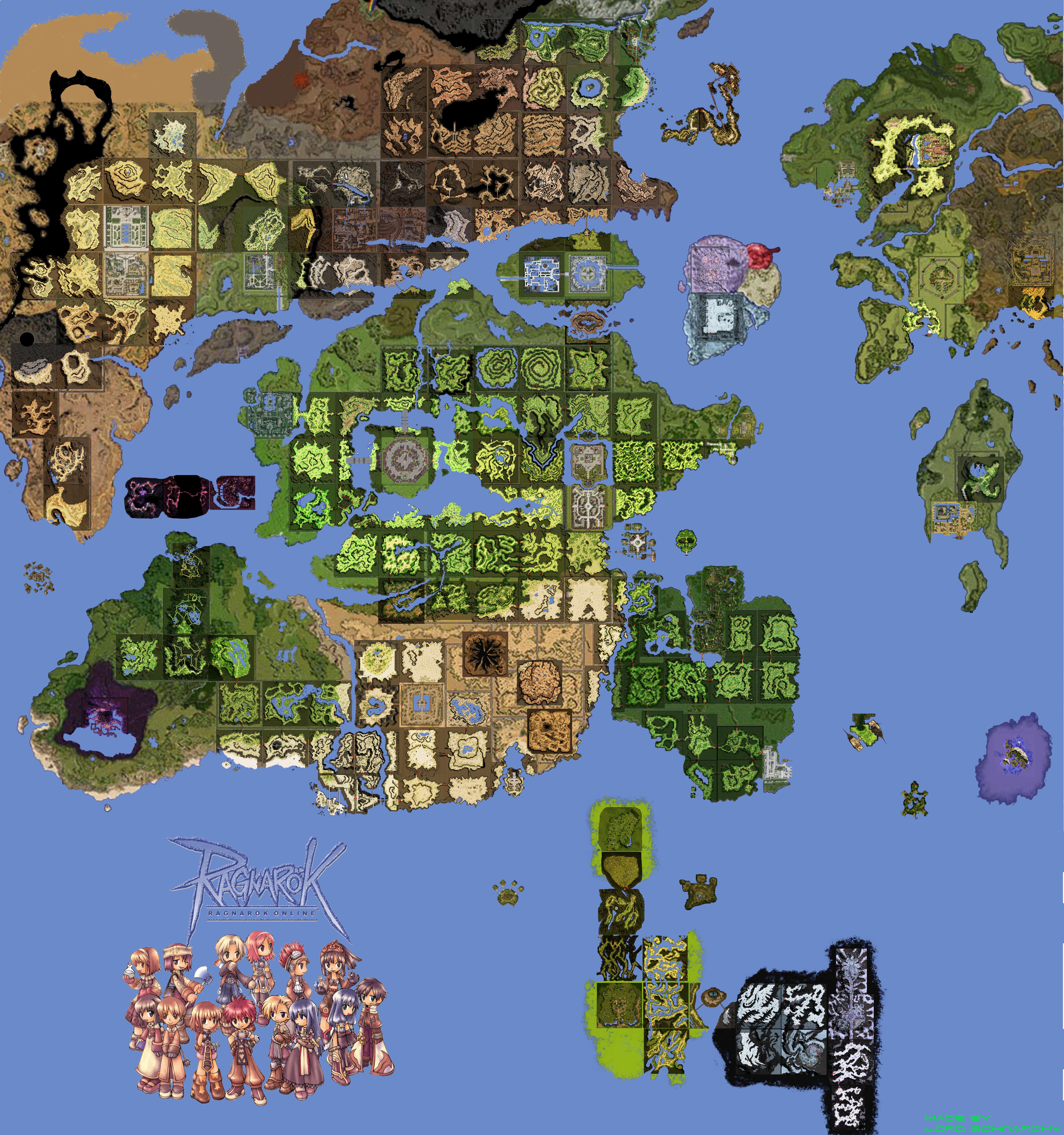 Map Of The World Online.Wallpaper World Map The World Online Light Novel Ragnarok