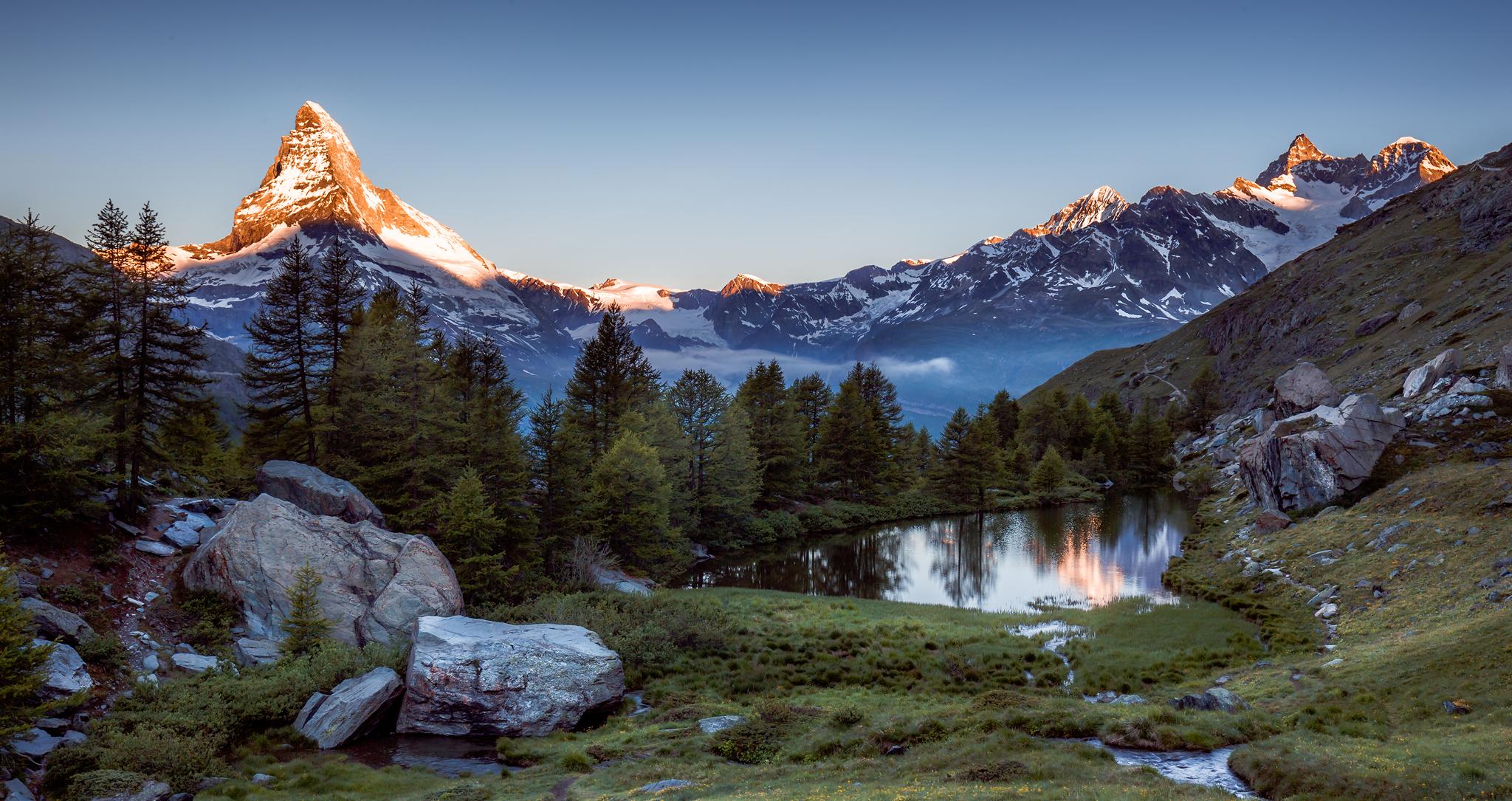 Wallpaper Wwwchrisdengerde Schweiz Zermatt Grindjisee