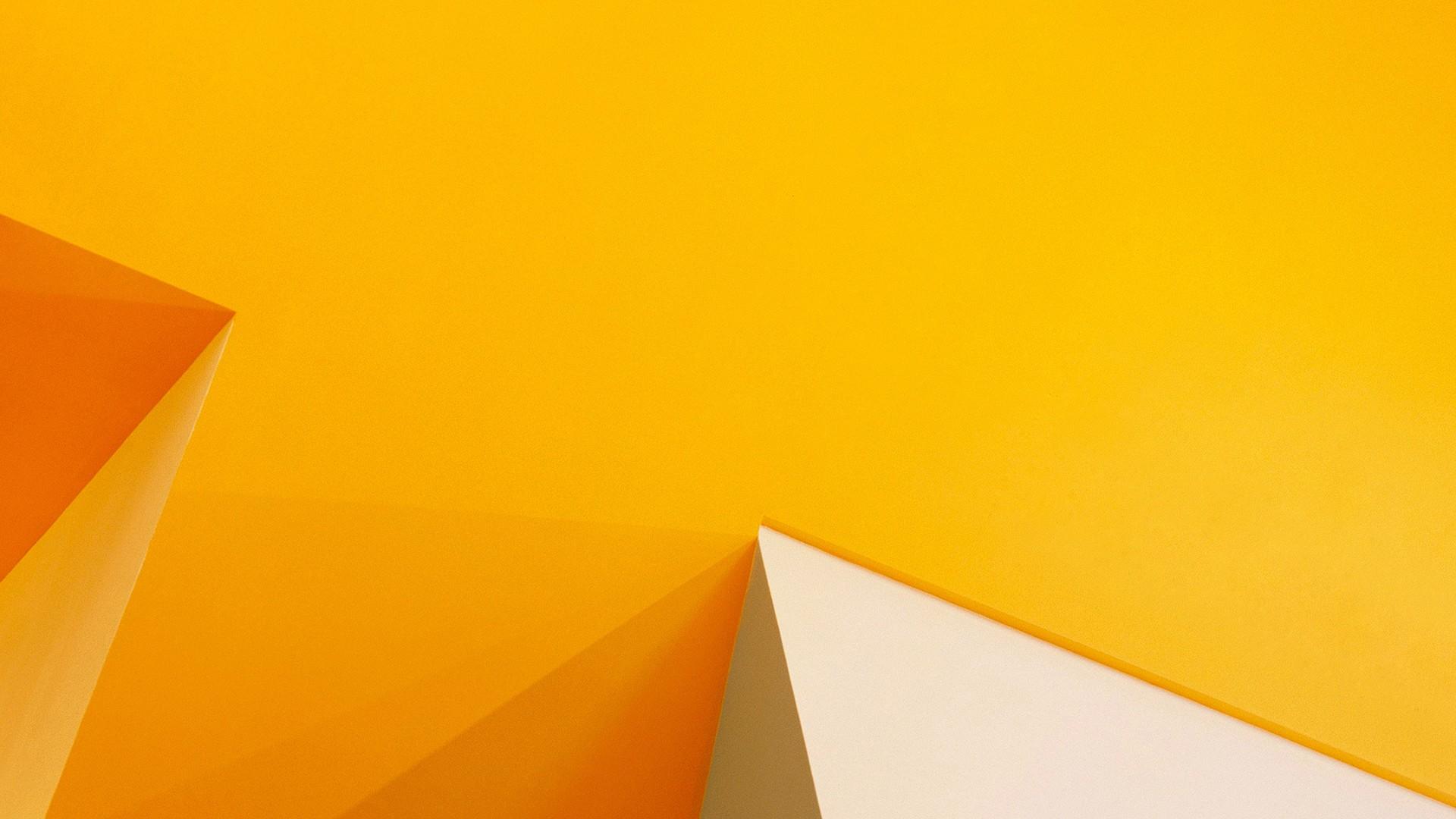 Fond d\'écran : jaune, Triangle, Orange, cercle, origami, papier ...
